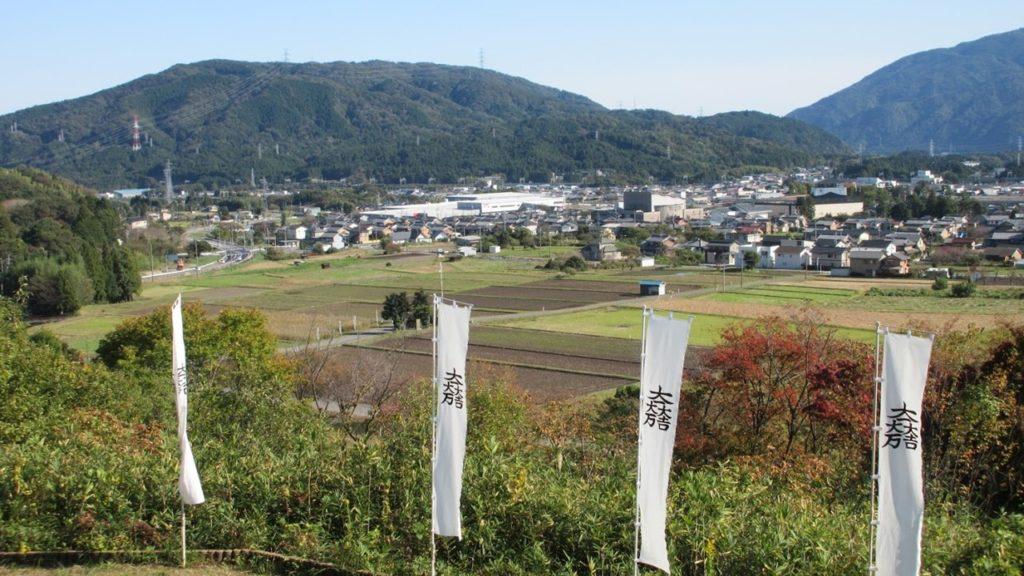 笹尾山から見下ろす関ケ原の戦いの古戦場
