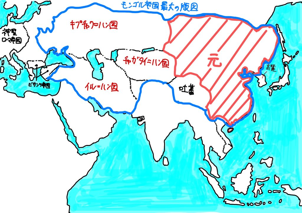 元の領土とモンゴル帝国